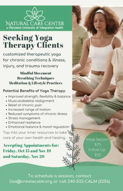 Create Calm Yoga Therapy